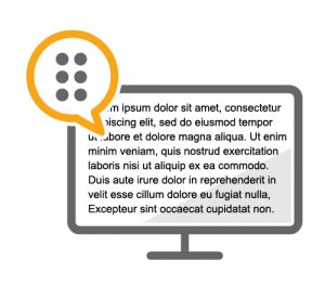 ScreenReader pictogram