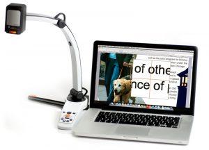 MagniLink S aangesloten op een computer