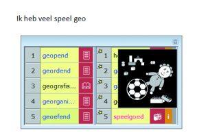 Screenshot WoDy met beeldwoordenboek