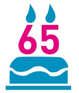 pictogram 65 years