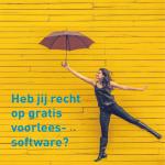meisje met paraplu, tekst recht op gratis voorleessoftware
