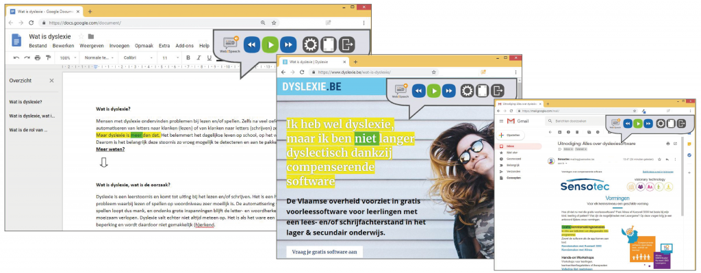 Web2Speech-toepassingen