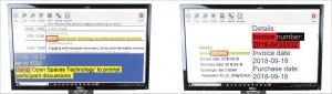 Met de splitscreenfuntie kan je het originele document naast het DocReader scherm bekijken.