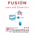 logo's fusion en supernova maginfier and screenreader