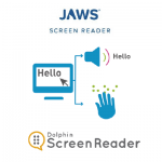logo's jaws en screenreader