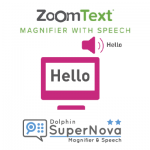 logo's zoomtext magnifier and speech en supernova magnifier and speech