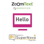 logo's zoomtext en supernova magnifier